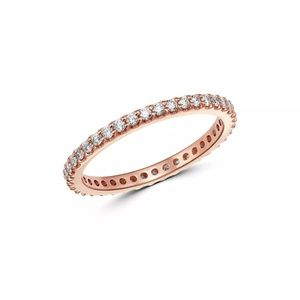 Diamond Eternity Stacking Band in 14K Rose Gold